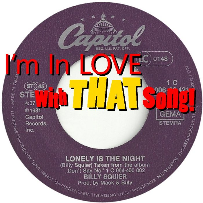 """Billy Squier – """"Lonely Is The Night"""""""